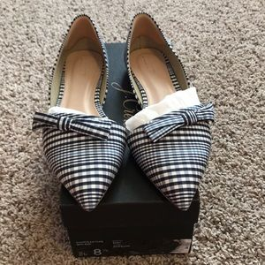 """J.Crew """"Sloan Plaid Flats with Bow"""""""